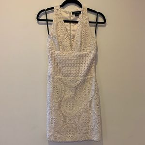 Marciano cream lace dress